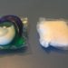 An image of a Tide Pod (which is blue, green and white) and an Arm and Hammer detergent pod, which is only white and is less visually appealing