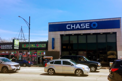 A branch of Chase Bank in Brighton Park, Chicago
